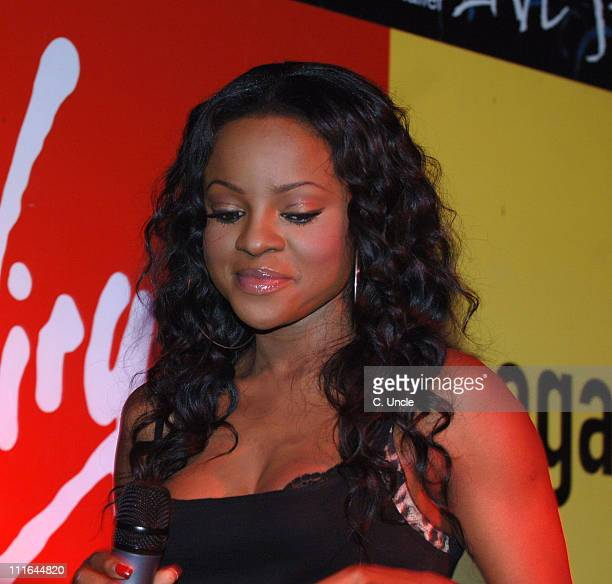 Keisha Buchanan of Sugababes during Sugababes Signing and Instore Performance at Virgin Megastore in London November 13 2006 at Virgin Megastores in...