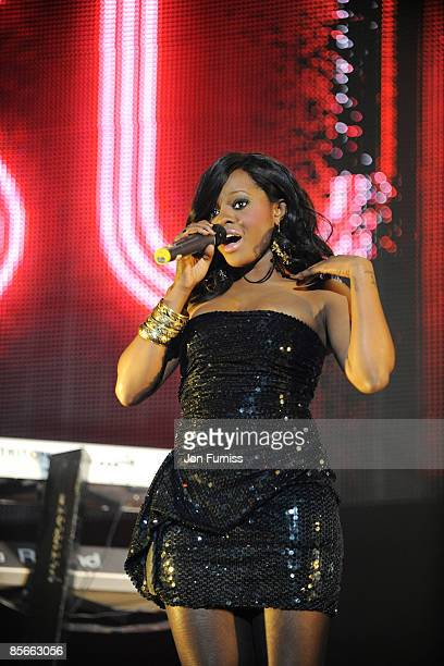 ACCESS *** Keisha Buchanan of Sugababes performs on stage during the Capital FM Jingle Bell Ball held at the 02 Arena in Docklands on December 10...