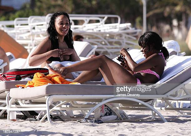 Keisha Buchanan of the Sugababes during Keisha Buchanan of the Sugababes Sighting in South Beach January 3 2007 at South Beach in Miami Florida...