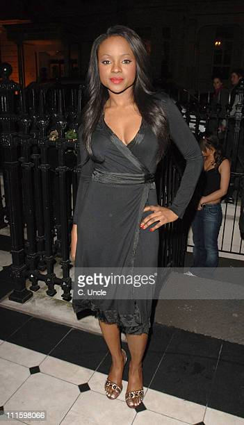 Keisha Buchanan of the Sugababes during SugaBabes Concert After Party at Aviva in London April 10 2006 at Aviva Baglioni Hotel in London Great Britain