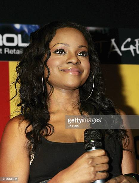 Keisha Buchanan of the Sugababes performs at the Virgin Megastore on Oxford Street for the launch of their new album 'Overloaded The Singles...