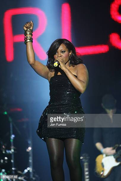 LONDON DECEMBER 10 Keisha Buchanan of the Sugababes performs during the show at Capital FM's Jingle Bell Ball held at the 02 Arena Docklands on...
