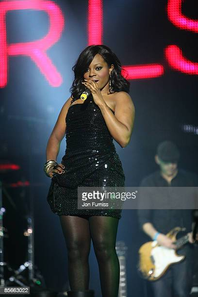 ACCESS *** Keisha Buchanan of the Sugababes performs on stage during the Capital FM Jingle Bell Ball held at the 02 Arena in Docklands on December 10...