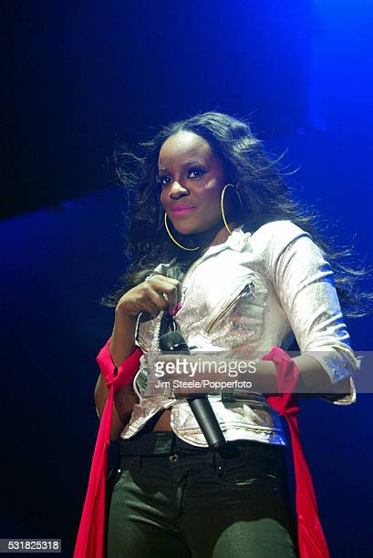 Keisha Buchanan of the Sugarbabes performing on stage at Wembley Arena in London on the 13th April 2007