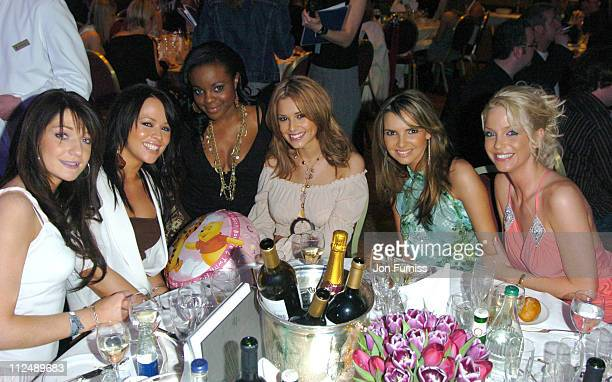 Keisha Buchanan with Nicola Roberts Kimberley Walsh Cheryl Tweedy Nadine Coyla and Sarah Harding of Girls Aloud