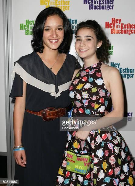 Keisha CastleHughes and Danielle Catanzariti attend the Australian premiere of 'Hey Hey It's Esther Blueburger' at the Greater Union Cinema Bondi...