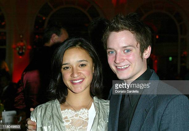 Keisha CastleHughes and Elijah Wood during Celebration of New Zealand Filmmaking and Creative Talent at The Beverly Hills Hotel in Beverly Hills...