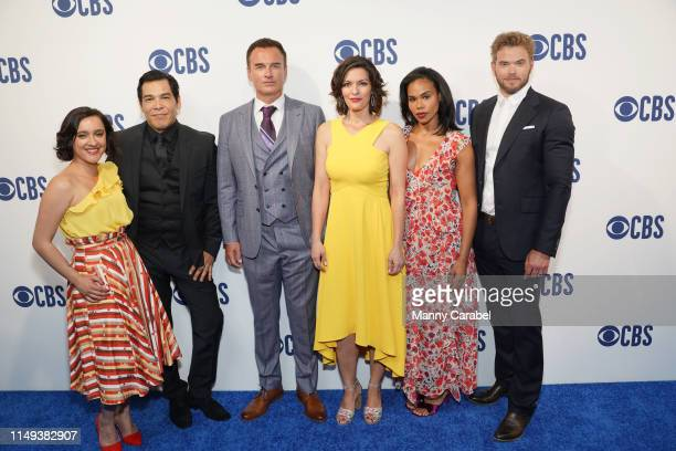 Keisha CastleHughes Nathaniel Arcand Julian McMahon Alana De La Garza Roxy Sternberg and Kellan Lutz attend the 2019 CBS Upfront at The Plaza on May...
