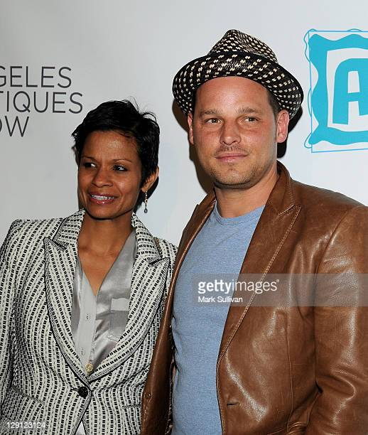 Keisha Chambers and Justin Chambers arrive for The 16th Annual Los Angeles Antiques Show 2011 at Barker Hangar on April 13, 2011 in Santa Monica,...