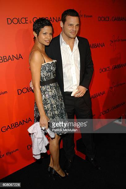 Keisha Chambers and Justin Chambers attend Dolce and Gabbana and Penelope Cruz Collaborate to Raise Awareness for the Art of Eslyium at Chateau...