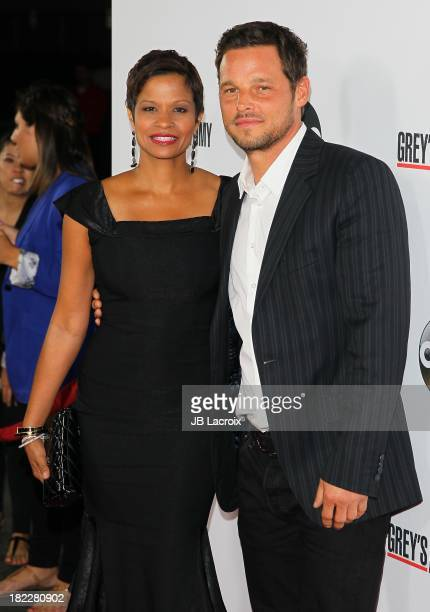 Keisha Chambers and Justin Chambers attend Grey's Anatomy 200th Episode party held at The Colony on September 28 2013 in Los Angeles California