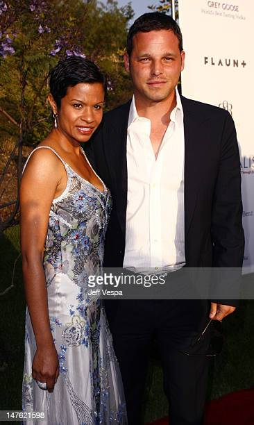 Keisha Chambers and Justin Chambers during Sixth Annual Chrysalis Butterfly Ball Red Carpet at Home of Susan Harris Hayward Kaiser in Mandeville...