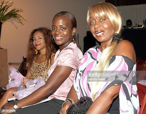 Keisha Combs and Janice Combs during Olympus Fashion Week Spring 2006 Chris Aire Backstage Front Row at New York Public Library in New York City New...
