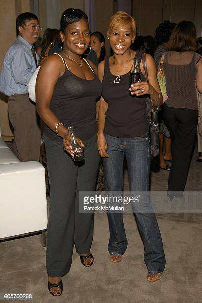 Keisha Combs and RozO attend DIET PEPSI JAZZ Cocktail Party at W New York on July 11 2006 in New York City