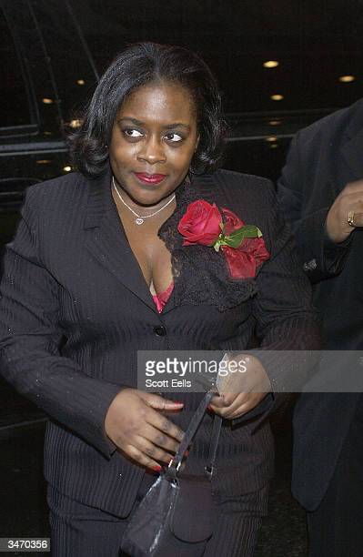 Keisha Combs arrives for opening night of A Rasin in the Sun starring Sean PDiddy Combs on April 26 2004 in New York City