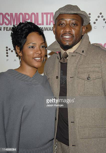 """Keisha Epps and Omar Epps during Cosmopolitan Magazine Honors Nick Lachey as """"Fun Fearless Man of the Year"""" - January 22, 2007 at Cipriani's - 42nd..."""