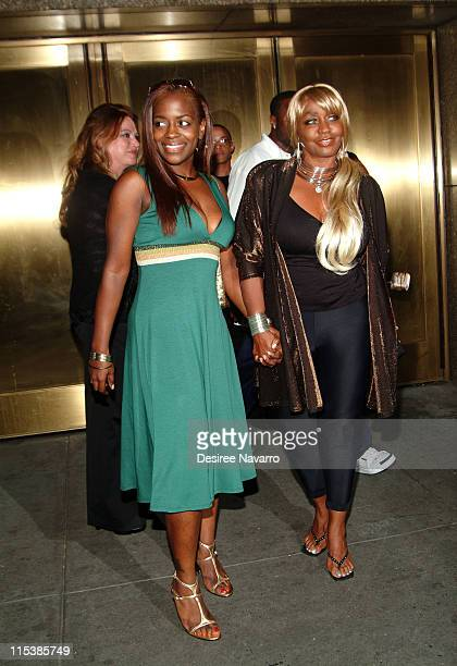 Keisha Jones and Janice Combs during Olympus Fashion Week Spring 2006 Baby Phat Arrivals at Radio City Music Hall in New York City New York United...
