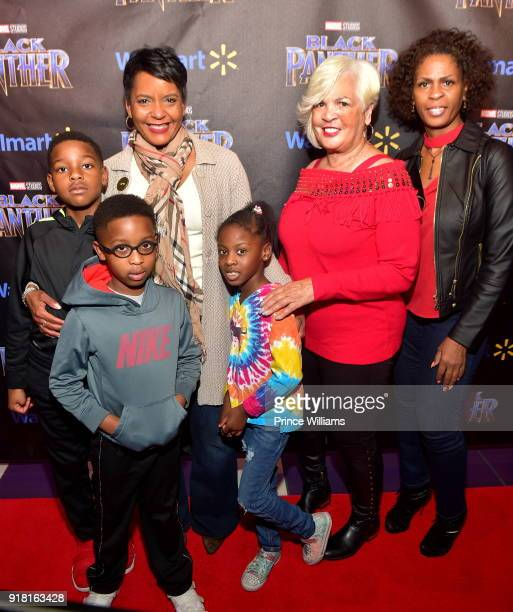 Keisha Lance Bottoms and Family attend 'Black Panther' Advance Screening at Regal Hollywood on February 13 2018 in Chamblee Georgia