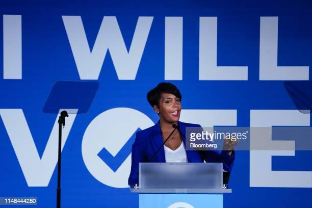 Keisha Lance Bottoms mayor of Atlanta speaks during the Democratic National Committee IWillVote Gala fundraising event in Atlanta Georgia US on...