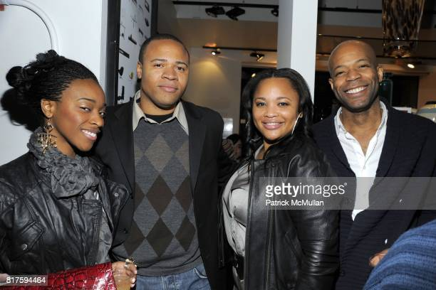 Keisha Roberts SW Roseburg Latrice Shepherd and Wesley Rowell attend 8TH ANNUAL BoCONCEPT/KOLDESIGN HOLIDAY PARTY at BoConcept on December 14 2010 in...
