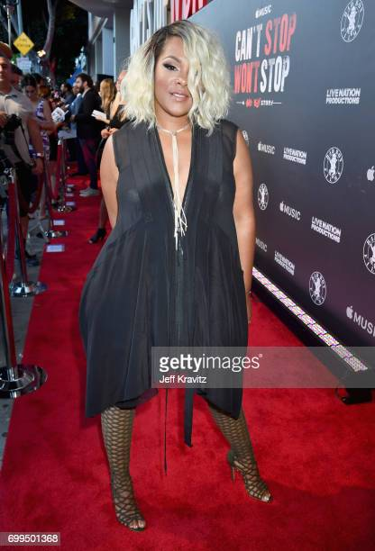Keisha Spivey Epps of Total attends the Los Angeles Premiere of Apple Music's CAN'T STOP WON'T STOP A BAD BOY STORY at The WGA Theater on June 21...