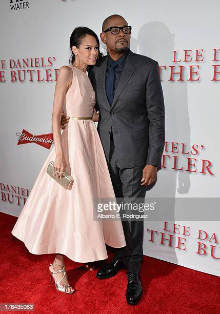 Keisha Whitaker and actor Forest Whitaker attend the Premiere Of The Weinstein Company's 'Lee Daniels' The Butler' at Regal Cinemas LA Live on August...