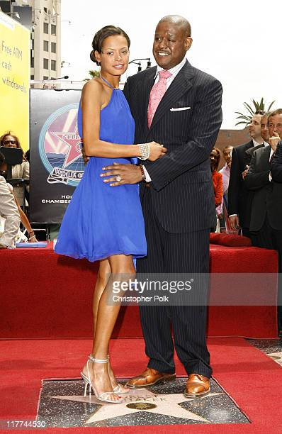 Keisha Whitaker and Forest Whitaker during Forest Whitaker Honored with a Star on the Hollywood Walk of Fame in Hollywood California United States