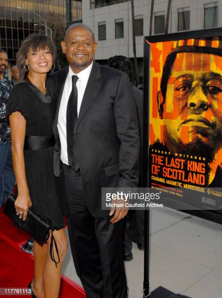 Keisha Whitaker and Forest Whitaker during Fox Searchlight Pictures Presents the Los Angeles Premiere of The Last King of Scotland at Academy of...