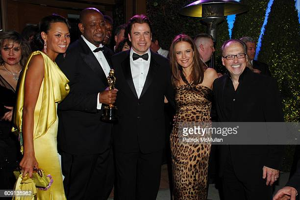 Keisha Whitaker Forest Whitaker John Travolta Kelly Preston and Jerry Inzerillo attend VANITY FAIR Oscar Party at Morton's on February 25 2007 in Los...