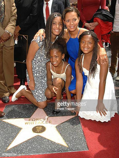 Keisha Whitaker wife to actor Forest Whitaker and daughters at the ceremony honoring Forest Whitaker on the Hollywood Walk of Fame