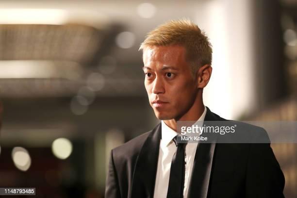 Keisuke Honda arrives ahead of the 2019 Dolan Warren Awards at The Star on May 13 2019 in Sydney Australia