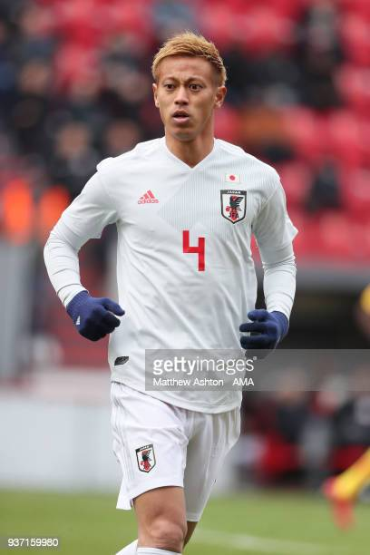 Keisuke Honda of Japan during the International friendly match between Japan and Mali at the Stade de Sclessin on March 23 2018 in Liege Belgium