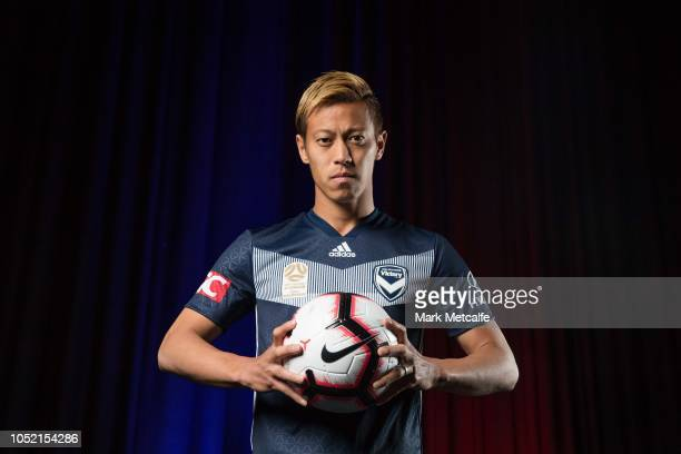 Keisuke Honda of Melbourne Victory poses during the 2018/19 ALeague Season Launch at Fox Studios on October 15 2018 in Sydney Australia