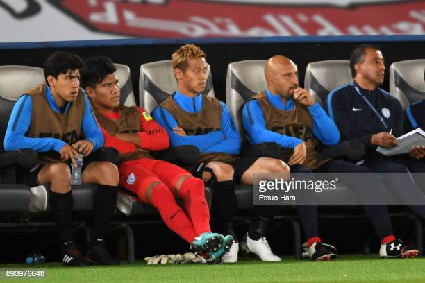 Keisuke Honda of Pachuca is seen during the FIFA Club World Cup UAE 2017 third place play off match between Al Jazira and CF Pachuca at the Zayed...