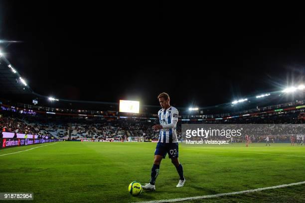 Keisuke Honda of Pachuca looks on during the 7th round match between Pachuca and Tijuana as part of the Torneo Clausura 2018 Liga MX at Hidalgo...