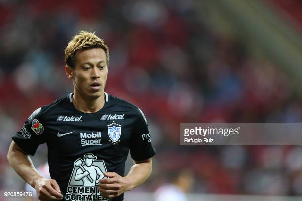 Keisuke Honda of Pachuca looks on during the 8th round match between Chivas and Pachuca as part of the Torneo Clausura 2018 Liga MX at Akron Stadium...