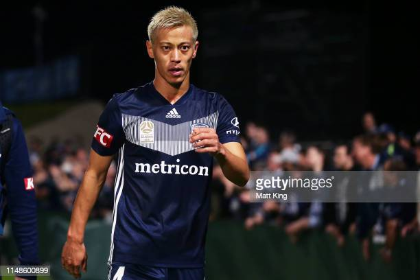 Keisuke Honda of the Victory looks dejected after the ALeague Semi Final match between Sydney FC and the Melbourne Victory at Netstrata Jubilee...