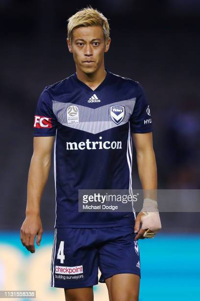 Keisuke Honda of the Victory reacts after the drawn result during the Round 20 match between Melbourne Victory and Melbourne City at Marvel Stadium...