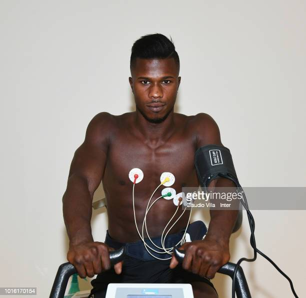 Keita Balde Diao attends FC Internazionale unveils new signing Keita Balde Diao on August 13 2018 in Milan Italy