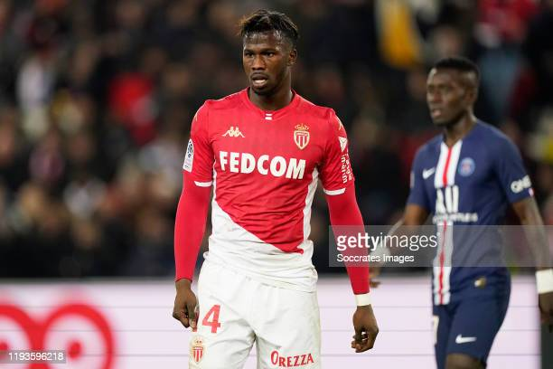 Keita Balde of AS Monaco during the French League 1 match between Paris Saint Germain v AS Monaco at the Parc des Princes on January 12, 2020 in...