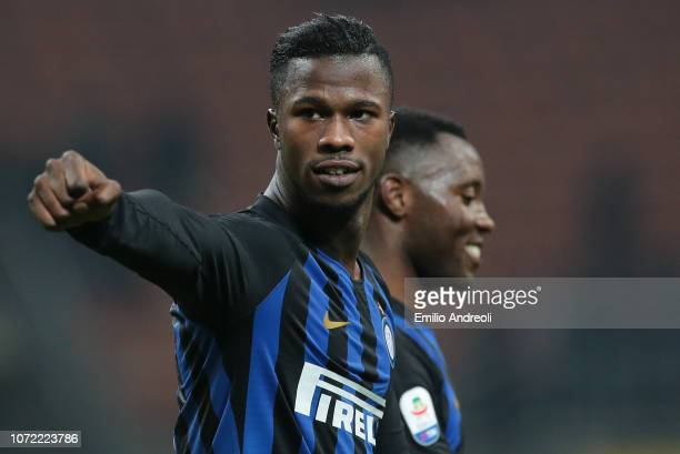 Keita Balde of FC Internazionale gestures during the Serie A match between FC Internazionale and Frosinone Calcio at Stadio Giuseppe Meazza on...