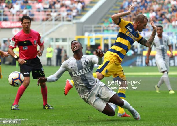 Keita Balde of FC Internazionale in action during the serie A match between FC Internazionale and Parma Calcio at Stadio Giuseppe Meazza on September...