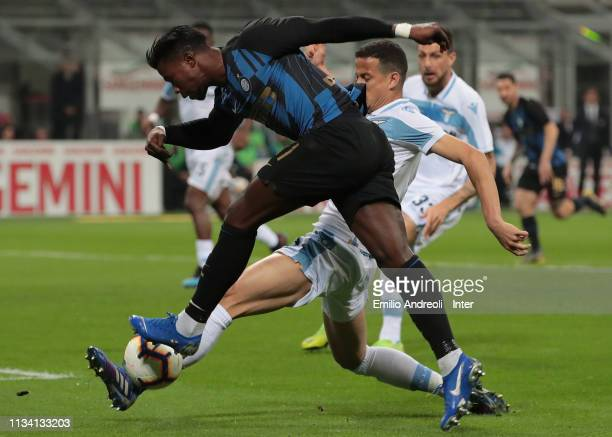 Keita Balde of FC Internazionale in action during the Serie A match between FC Internazionale and SS Lazio at Stadio Giuseppe Meazza on March 31 2019...