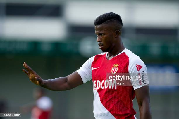 Keita Balde of Monaco controls the ball during the Friendly match between VfL Bochum and AS Monaco at Stadion an der Poststraße on July 25 2018 in...