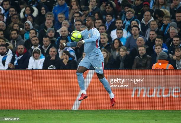 Keita Balde of Monaco during the French Ligue 1 match between Olympique de Marseille and AS Monaco at Stade Velodrome on January 28 2018 in Marseille...