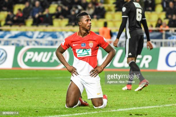 Keita Balde of Monaco during the French National Cup match round of 32 between Monaco and Lyon on January 24 2018 in Monaco Monaco