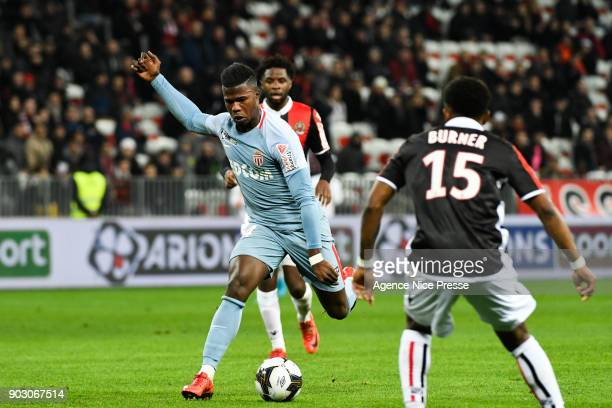 Keita Balde of Monaco during the League Cup match between Nice and Monaco at Allianz Riviera Stadium on January 9 2018 in Nice France