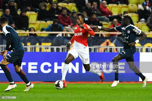 Keita Balde of Monaco during the League Cup semi final match between Monaco and Montpellier at Stade Louis II on January 31 2018 in Monaco Monaco