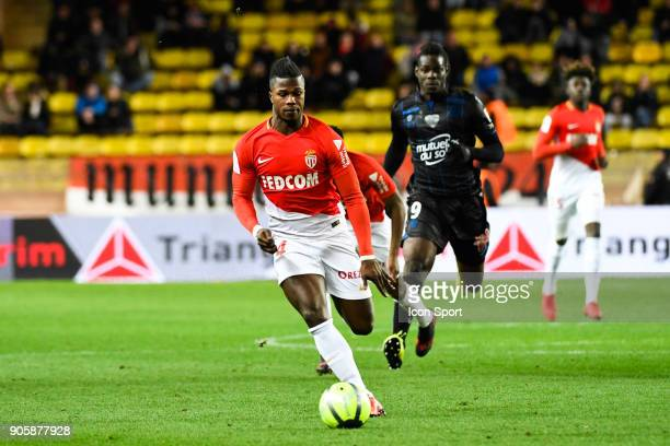 Keita Balde of Monaco during the Ligue 1 match between AS Monaco and OGC Nice at Stade Louis II on January 16 2018 in Monaco