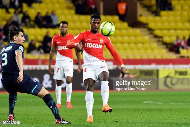 Keita Balde of Monaco during the Ligue 1 match between AS Monaco and Lille OSC at Stade Louis II on March 16 2018 in Monaco